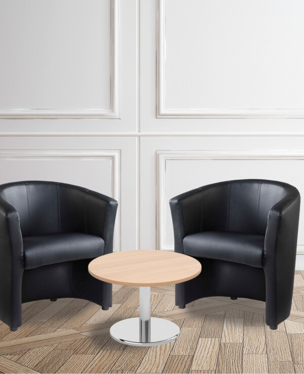 Bundle deal - 2 x London tub chairs with 600mm coffee table - beech - Furniture