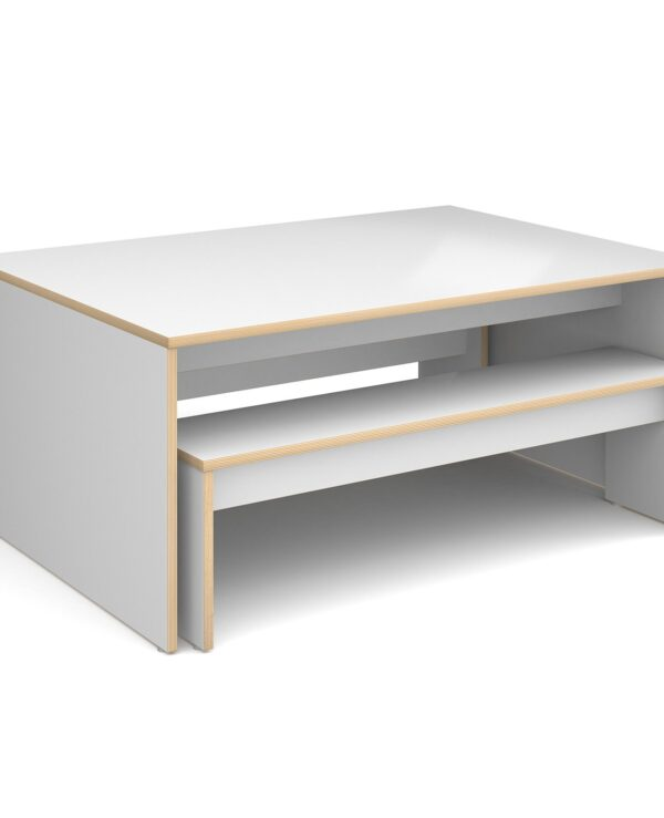 Slab 25 six person table 1700mm x 900mm with 2 x 1550mm benches - Furniture