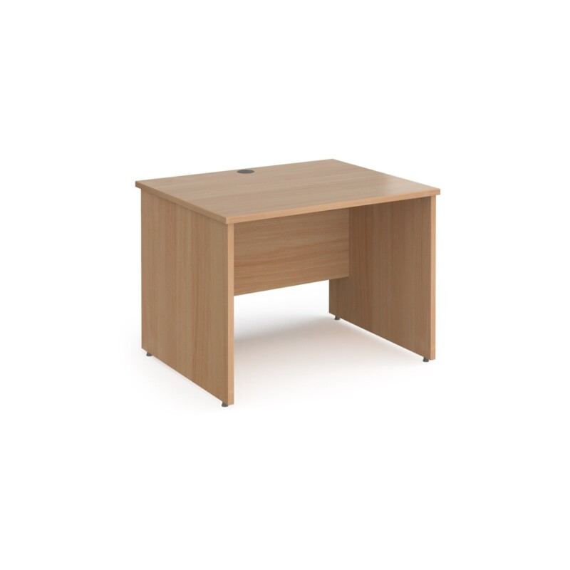 Contract 25 straight desk with panel leg 1000mm x 800mm - beech - Furniture