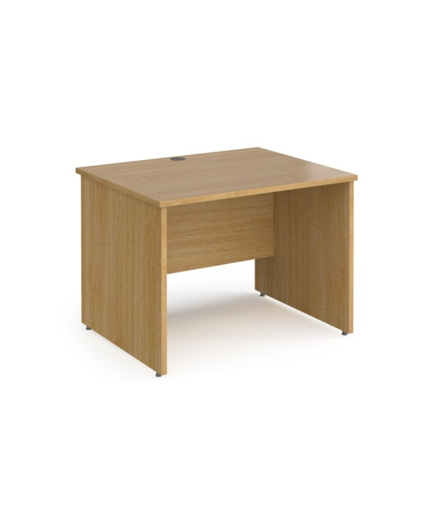 Contract 25 straight desk with panel leg 1000mm x 800mm - oak - Furniture