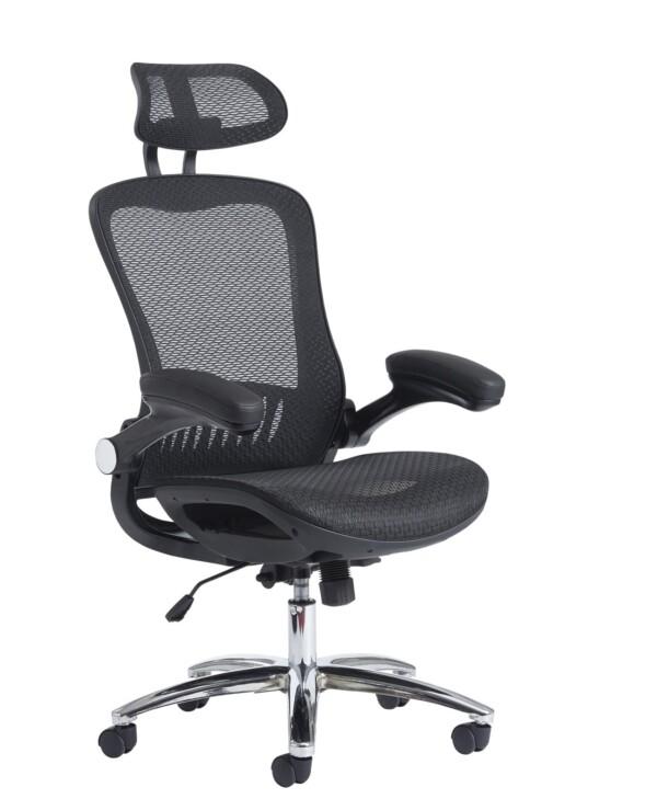 Curva high back mesh chair - black - Furniture
