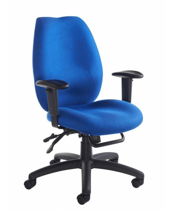 Cornwall multi functional operator chair - blue - Furniture