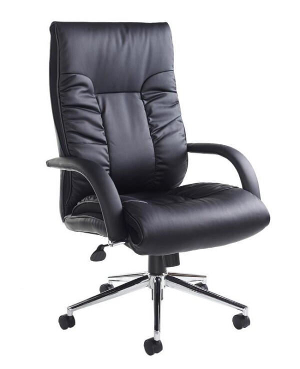 Derby high back executive chair - black faux leather - Furniture