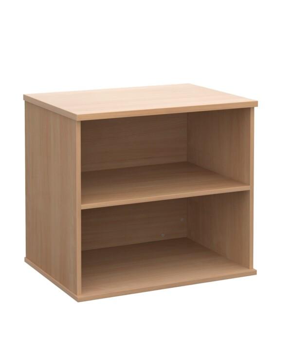 Deluxe desk high bookcase 600mm deep - beech - Furniture