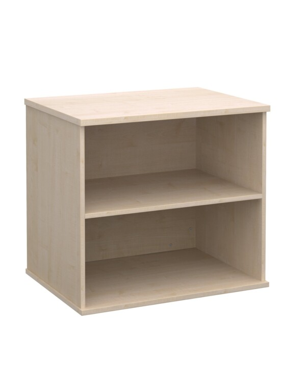 Deluxe desk high bookcase 600mm deep - maple - Furniture