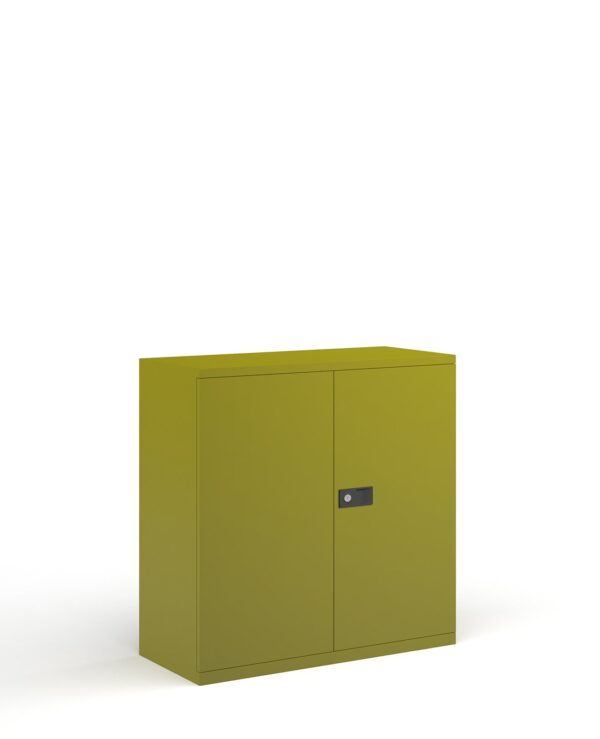 Steel contract cupboard with 1 shelf 1000mm high - green - Furniture