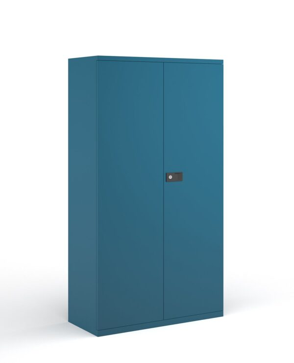 Steel contract cupboard with 3 shelves 1806mm high - blue - Furniture