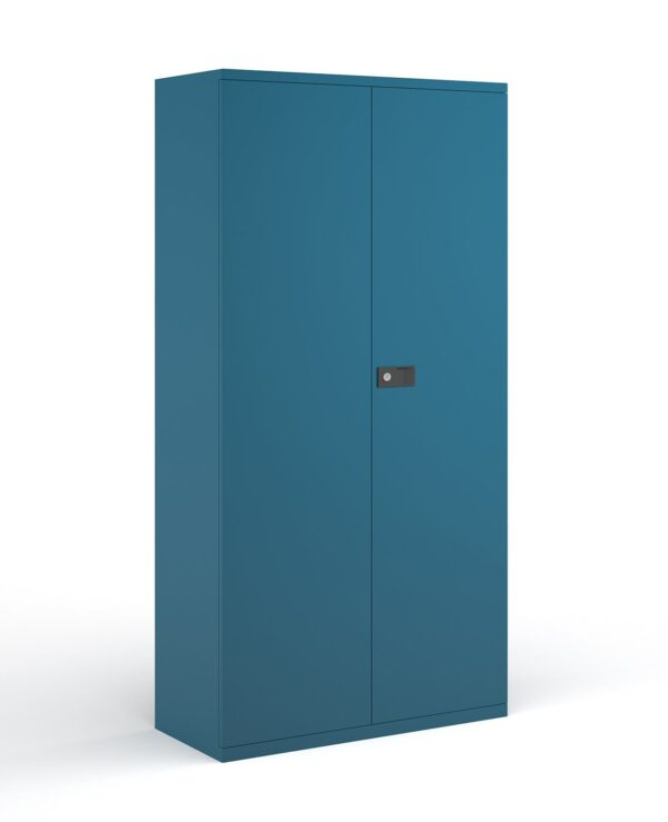 Steel contract cupboard with 4 shelves 1968mm high - blue - Furniture