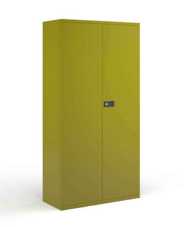 Steel contract cupboard with 4 shelves 1968mm high - green - Furniture