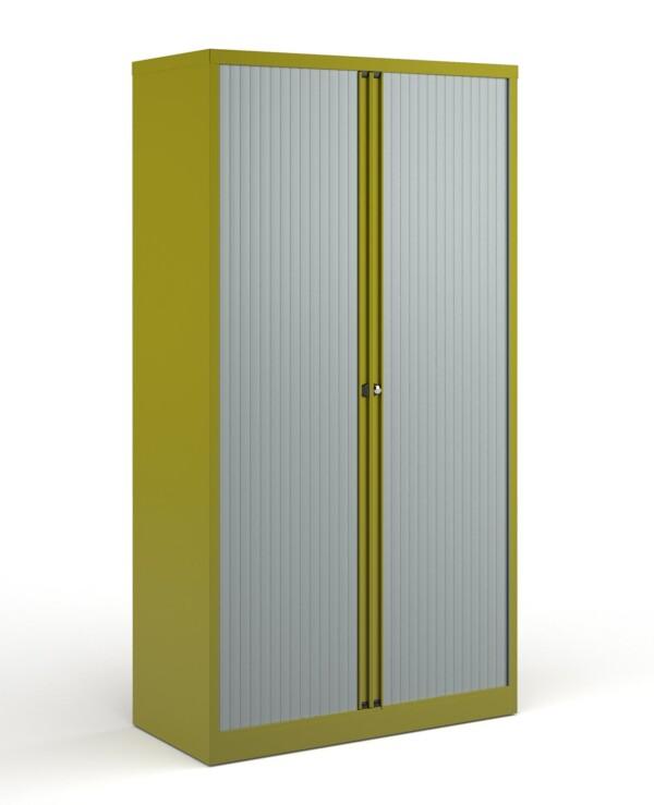 Bisley systems storage high tambour cupboard 1970mm high - green - Furniture