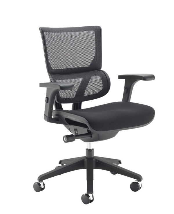 Dynamo mesh back posture chair with black frame and black airmex seat - Furniture