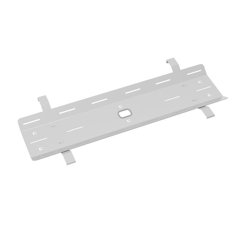 Double drop down cable tray & bracket for Adapt and Fuze desks 1600mm - white - Furniture