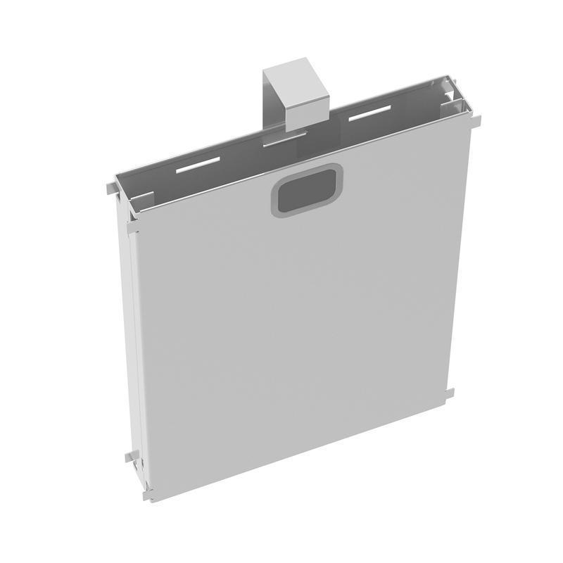 Adapt mass vertical cable riser for intermediate bench leg - white - Furniture