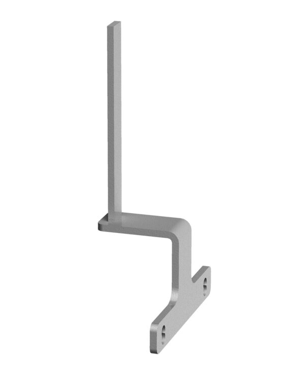Screen bracket for the ends of back to back Adapt and Fuze desks - silver - Furniture