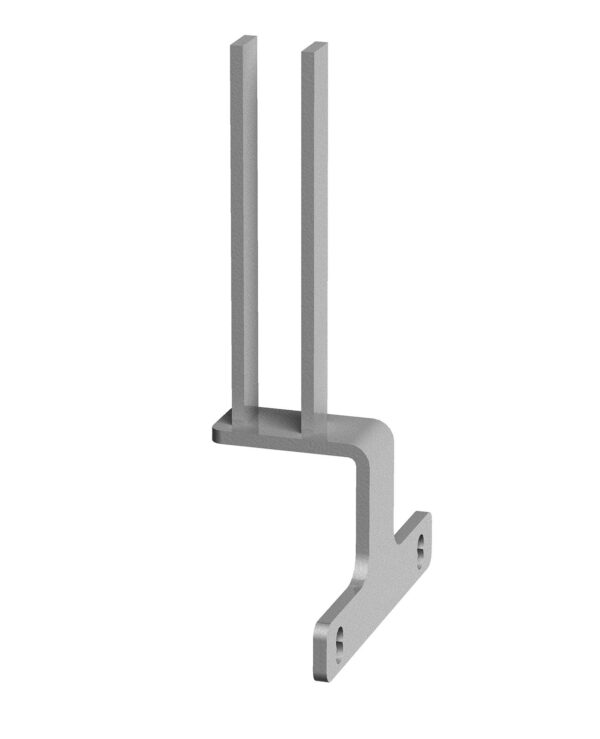 Screen bracket for intermediate back to back Adapt and Fuze desks - silver - Furniture