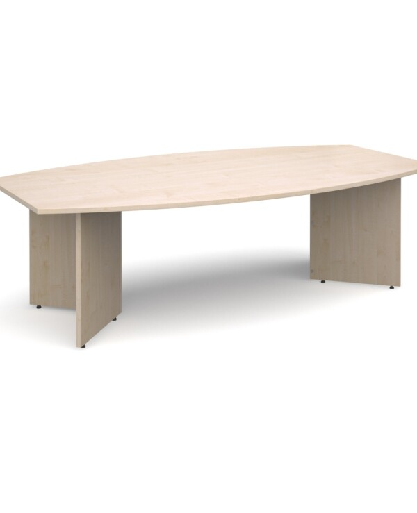 Arrow head leg radial boardroom table 2400mm x 800/1300mm - maple - Furniture