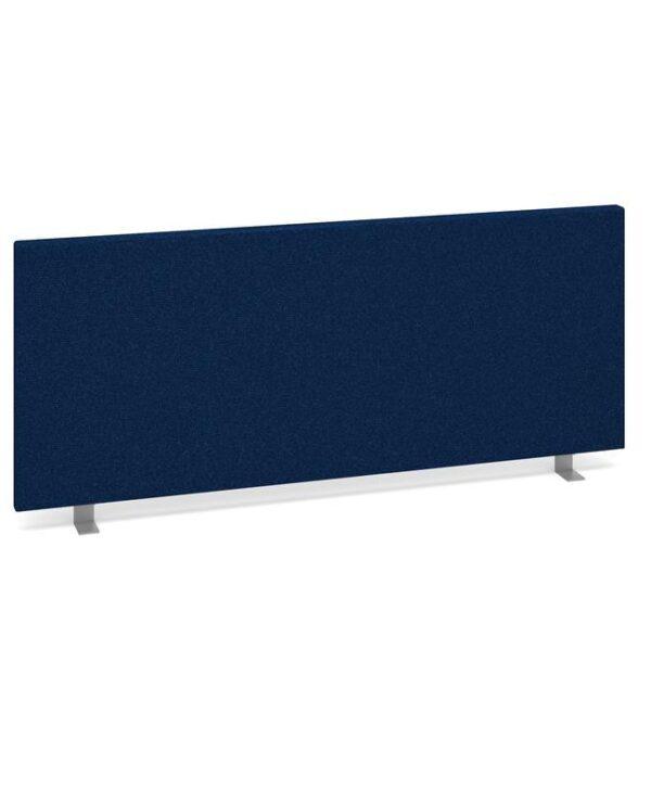 Straight desktop fabric screen 1000mm x 400mm - blue - Furniture