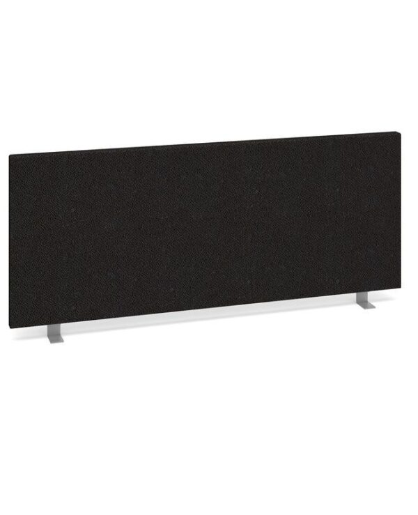 Straight desktop fabric screen 1000mm x 400mm - charcoal - Furniture