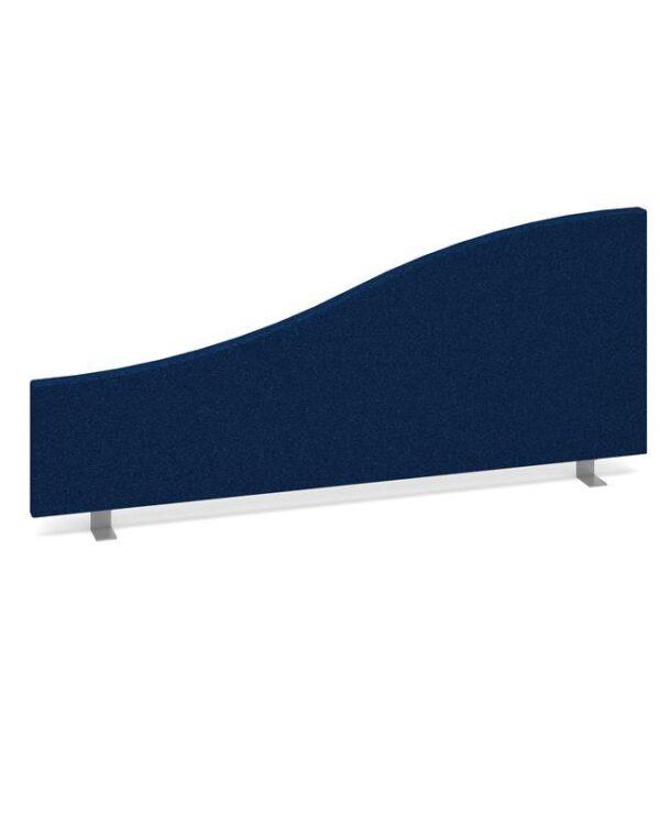 Wave desktop fabric screen 1000mm x 400mm/200mm - blue - Furniture