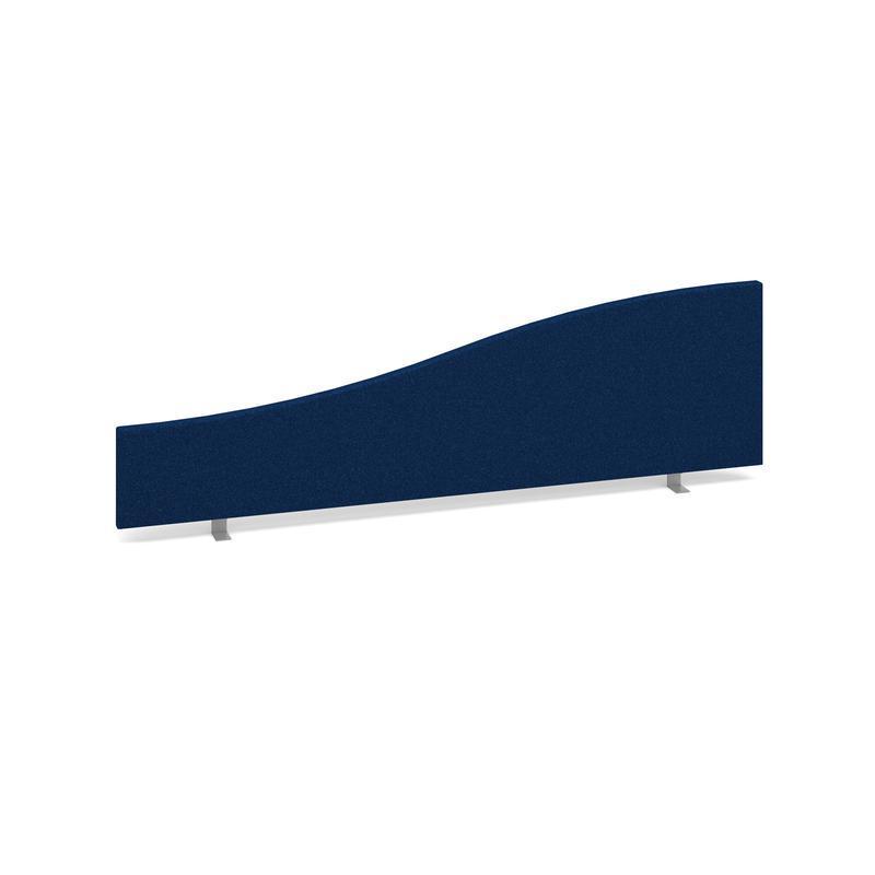 Wave desktop fabric screen 1400mm/200mm x 400mm/200mm - blue - Furniture