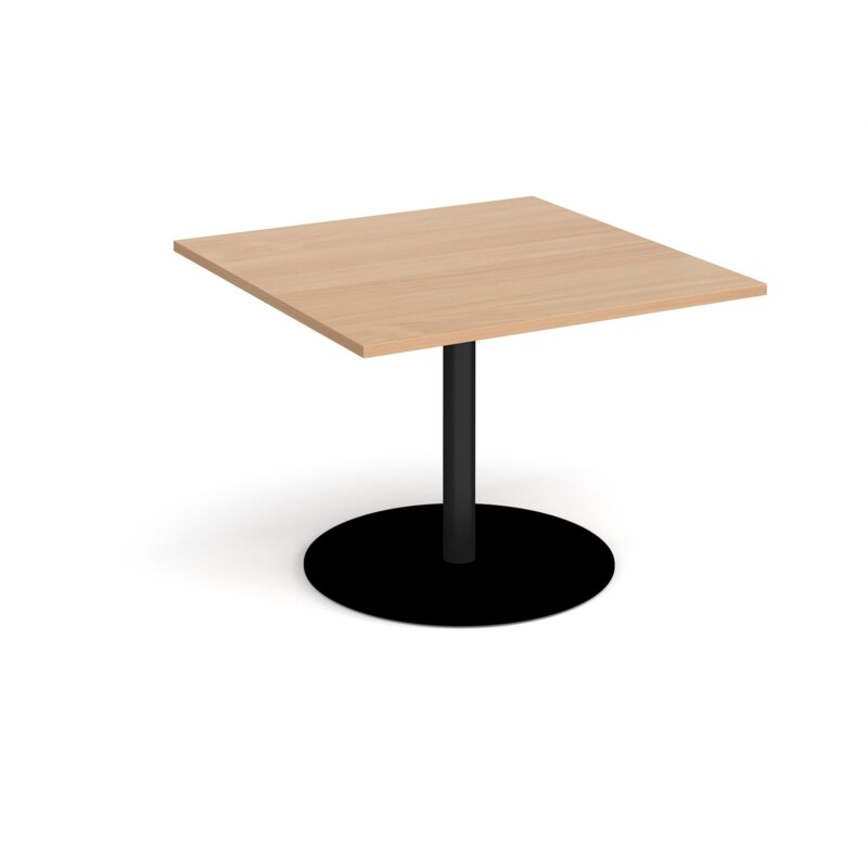 Eternal square extension table 1000mm x 1000mm - black base, beech top - Furniture