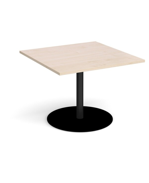 Eternal square extension table 1000mm x 1000mm - black base, maple top - Furniture
