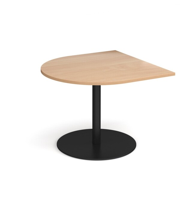 Eternal radial extension table 1000mm x 1000mm - black base, beech top - Furniture