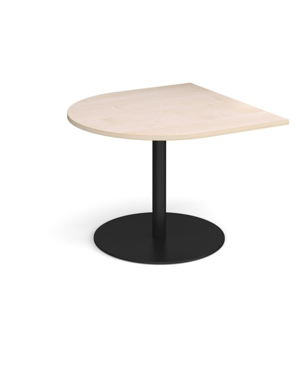 Eternal radial extension table 1000mm x 1000mm - black base, maple top - Furniture