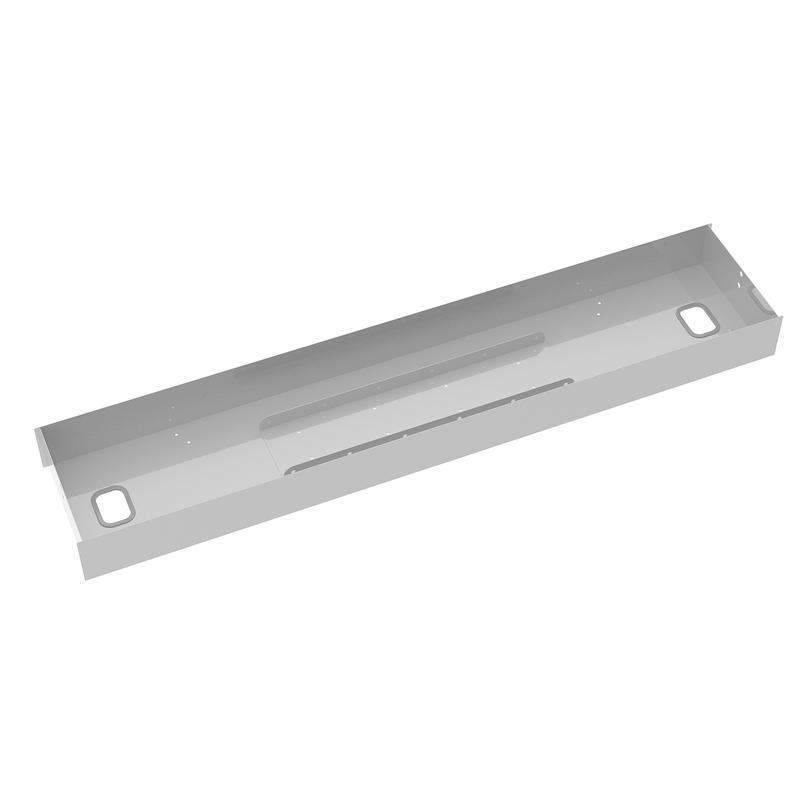 Elev8 lower cable channel with cover for back-to-back 1200mm desks - white - Furniture