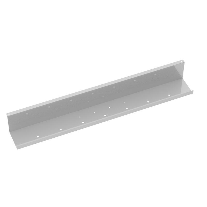 Elev8 upper cable channel 800mm wide for single desks - white - Furniture