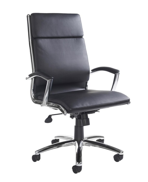 Florence high back executive chair - black faux leather - Furniture
