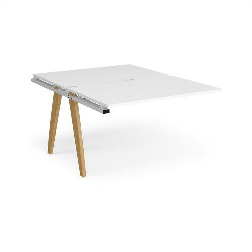 Fuze add on units back to back 1200mm x 1600mm - white frame, white top - Furniture