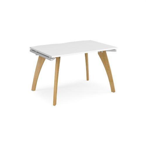 Fuze single desk 1200mm x 800mm - white frame, white top - Furniture