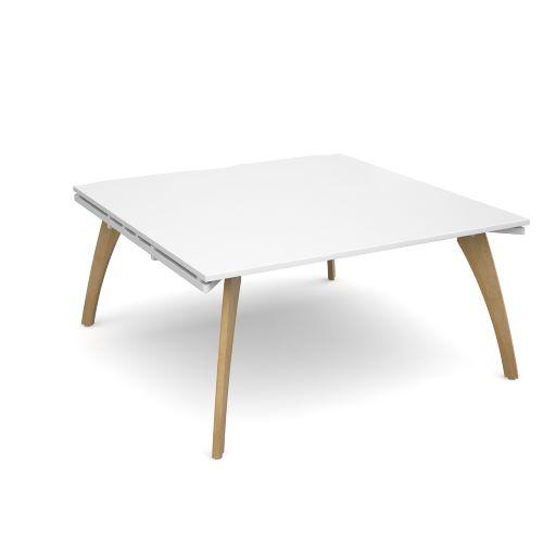 Fuze boardroom table starter unit 1600mm x 1600mm - white frame, white top - Furniture