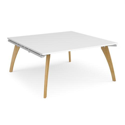 Fuze square boardroom table 1600mm x 1600mm - white frame, white top - Furniture