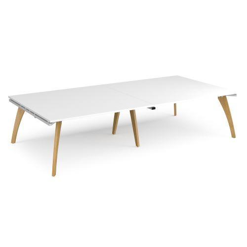 Fuze rectangular boardroom table 3200mm x 1600mm - white frame, white top - Furniture