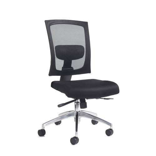 Gemini mesh task chair with no arms - black - Furniture