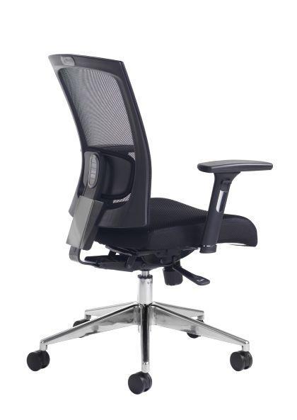 Gemini mesh task chair with adjustable arms - black - Furniture