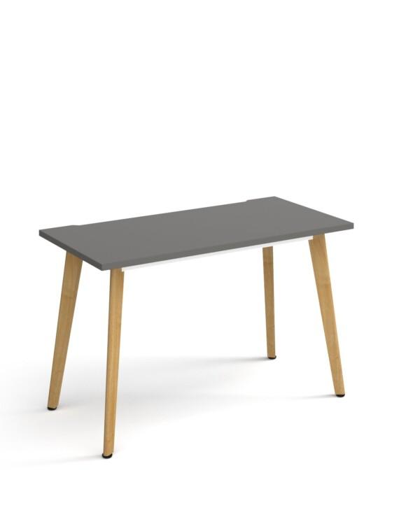 Giza wooden leg 600mm deep desk