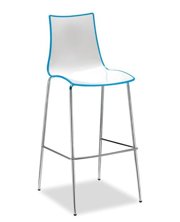 Gecko shell dining stool with anthracite legs - blue - Furniture