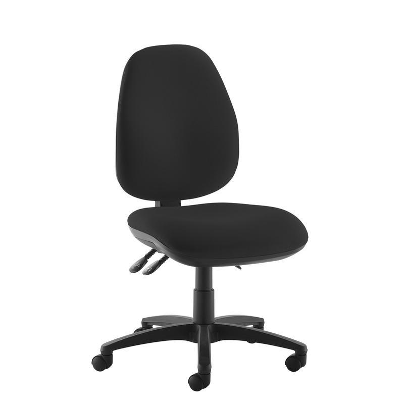 Jota high back operator chair with no arms - black - Furniture