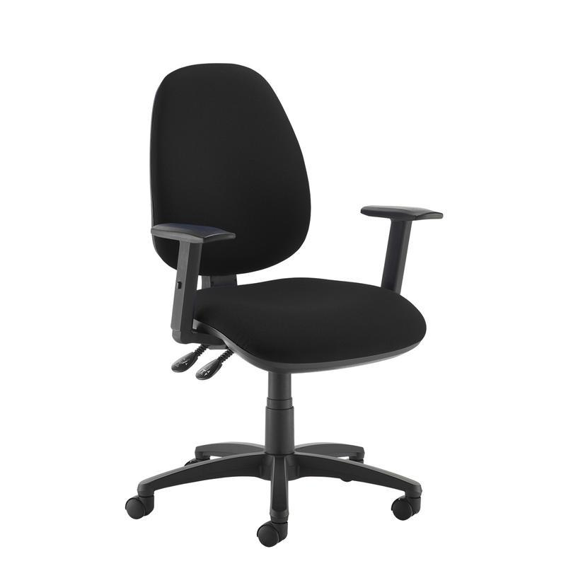 Jota high back operator chair with adjustable arms - black - Furniture