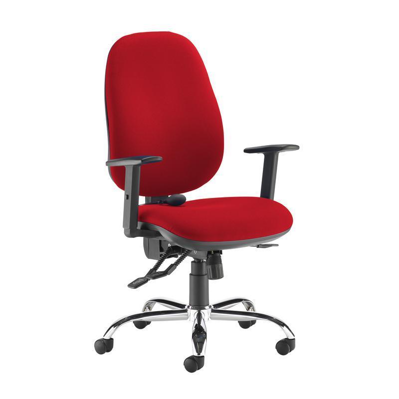 Jota ergo 24hr ergonomic asynchro task chair - Panama Red - Furniture