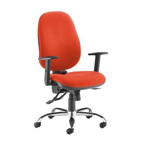 Jota ergo 24hr ergonomic asynchro task chair - Tortuga Orange - Furniture