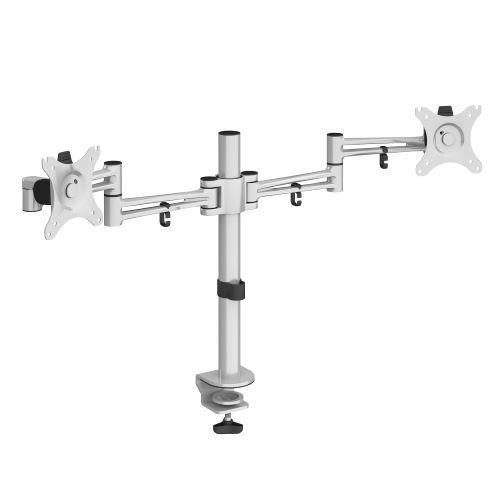 Luna double flat screen monitor arm - silver - Furniture