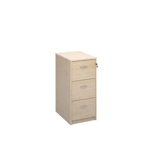 Wooden 3 drawer filing cabinet with silver handles 1045mm high - maple - Furniture