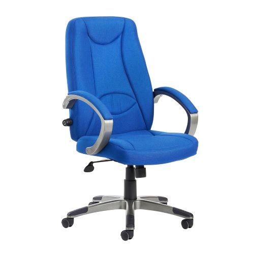 Lucca high back fabric managers chair - blue - Furniture