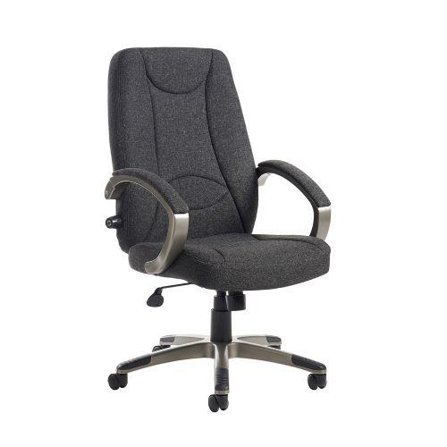 Lucca high back fabric managers chair - charcoal - Furniture