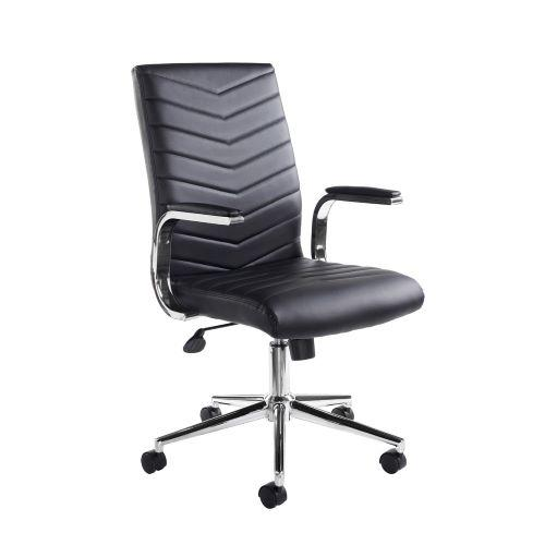 Martinez high back managers chair - black faux leather - Furniture