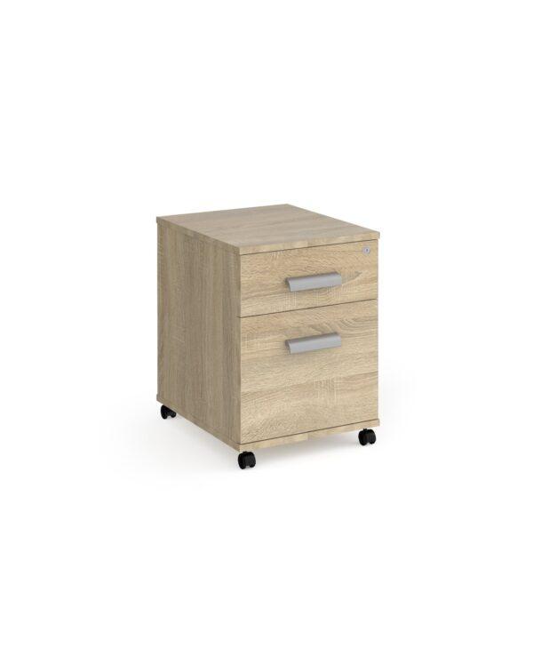Magnum 2 drawer mobile pedestal - light oak - Furniture